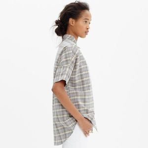 Madewell Plaid Courier Button Down Shirt